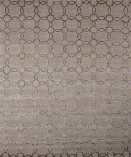 a full pattern view of the Marakesh beige and silver rug pattern from the himalayan collection