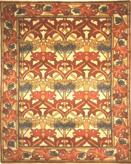 pattern tile showing the design of the 53 Red rug from the hali collection
