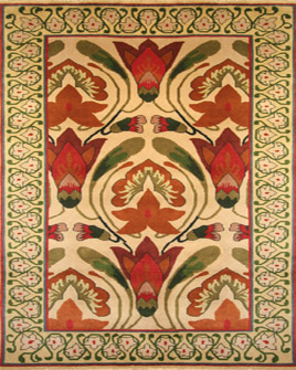 zoomable rug pattern image showing design of the monkshood ivory rug from the hali 100% new zealand wool collection