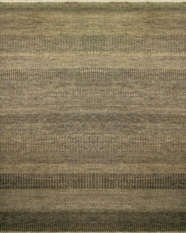 a full pattern view of the steppes midnight and beige rug from the hali 100% new zealand wool  collection