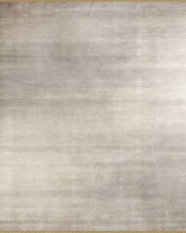a full pattern view of the steppes dark silver and grey rug from the hali shalimar collection