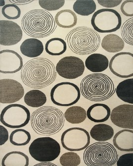 a full pattern view of the dendro ivory hand tufted rug from the hali 100% new zealand wool  collection