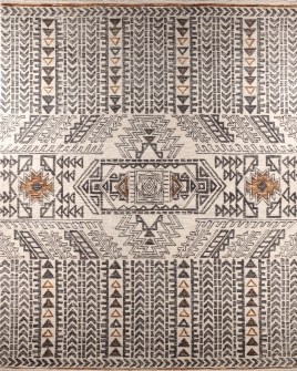 Pattern view image showcasing the design of the tufted echo rug from the Hali collection