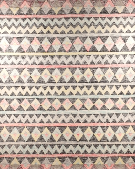 zoomable rug pattern image showing design of the romeo multi coloured hand tufted 100% wool rug from the hali collection
