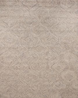 zoomable rug pattern image showing design of the warta brown and white rug from the hali tufted collection